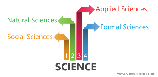 Main branches of science infographic
